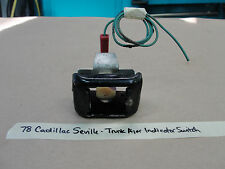 78 Cadillac Seville PULL DOWN TRUNK AJAR OPEN INDICATOR LIGHT SWITCH ASSEMBLY