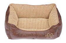 Welted Trim Plush Fabric Washable dog bed