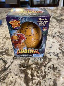 Dragon Mystery Grow Egg.. Toy Hatches & Grows  Orange
