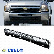 100W LED Light Bar w/ Mount Bracket, Relay: Chevy Silverado 1500, 2500HD 3500HD