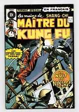 FRENCH COMIC FRANÇAIS EDITION HERITAGE CANADA  MASTER MAITRE KUNG FU  #  22 N17