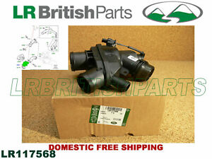 GENUINE LAND ROVER THERMOSTAT W HOUSING RANGE ROVER LR4 SPORT DISCOVERY LR117568