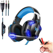 3.5mm Stereo PC Gaming Headset For PC PS4 Xbox One 360E With LED Mic Headphones