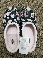 NWT* CROCS CLOGS *LINED FREESAIL **WOMENS 7** FLORAL PRINT