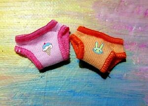 Mattel Kelly Chelsea Small Doll Clothes *2pr Cotton Pink/Orange Panties Panty*