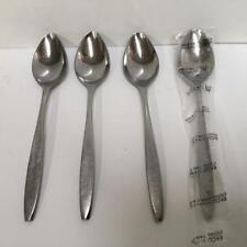 EKCO CORSAIR Eterna Stainless Japan MCM Midcentury Modern 4 Teaspoons Flatware