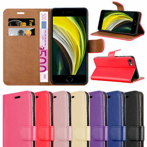 For Apple iPhone SE 2020 Phone Case Leather Wallet Book Flip Folio Stand Cover