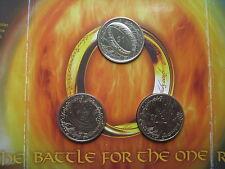 Nueva Zelanda 2003 Señor De Los Anillos 3 X 1 $dólares UNC moneda fijada Royal Mint Carpeta