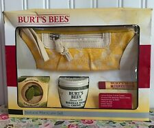 NEW BURT'S BEES MANICURE SET CUTICLE BUTTER BEEWAX HAND CREAM LIP BALM BAG TOOLS