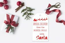 10 Kraft White Gift Tags Favour Christmas SPECIAL DELIVERY Present gift