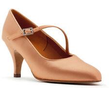 Tan Flesh Or White Latin Ballroom Dance Shoes Topline TC ROUND TOE + STRAP