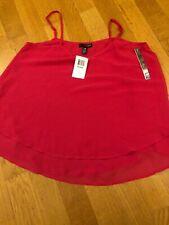 Ladies Aqua Pink Layered Camisole Top - Size M - BNWT