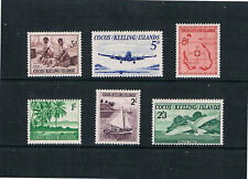Cocos Is -1963 - 1st Issue of Cocos Islands - SC 1-6 (SG 1-6)  MNH 21 H