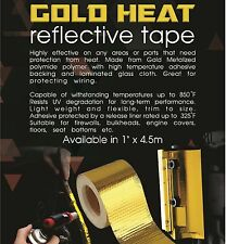 "TOG 450 DEGREE GOLD HEAT DEFENCE REFLECTIVE TAPE 1"" X 4.5M SILVIA S13 S14 S15"