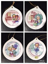 3� 2001 Precious Moments Christmas Remembered Porcelain Ornament Set Of 2