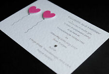 10 Personalised Engagement Party Invitations/Invites *23 Heart Colours* FREE P&P