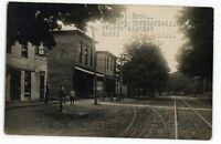 RPPC Street in EAST SPRINGFIELD PA Erie County Pennsylvania Real Photo Postcard