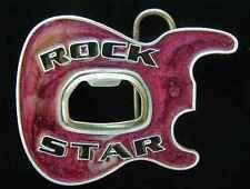 ROCK STAR BELT BUCKLE BUCKLES WITH BOTTLE OPENER COOL!