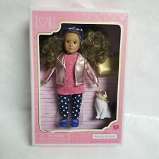 "Brand New Lori 6"" Doll Denelle & Dash Our Generation Cat Doll Purse"