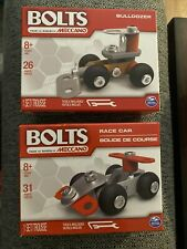 *Bolts By Meccano Lot Of 5. Bulldozer, Car, Plane, Race Car and Helicopter*