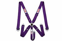 STR SFI 5-Point Racing Safety Harness Seat Belt Aircraft Camlock F1 F2 - Purple