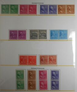 U.S. Stamp: Scott#839-#851, The Presidential Joint line coil issues of 1939,OGNH