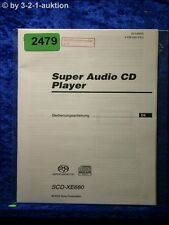 Sony Bedienungsanleitung SCD XE680 Super Audio CD Player (#2479)