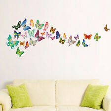 Colorful 80 Transperent Butterfly Wall Stickers Mural Art Home Decoration Paper