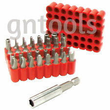 33PC Hole Hollow Torx Star Hex Security Tamperproof Screwdriver Drill Bits Case