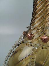 Italian Venetian Salviati iridescent Green & Gold Glass Decanter - Murano GL