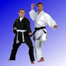 Karateanzug Karate Anzug Traditional 8 oz weiß schwarz Gürtel KWON® Gr. 110-200