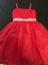 Chic Baby Girls Pageant/Party Dress. Red Color. Size 6