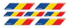 Romania Romanian flag 3d domed emblem decal sticker car tuning