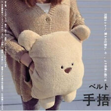 Soft Plush Bear Pillow Hand Warmer Office Lunch Break Pillow Cushion