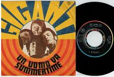I GIGANTI Un uomo va Summertime 45rpm 7' PS 1968 ITALY MINT- Beat Prog