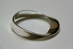 Robert Lee Morris Soho Mobius Strip Bangle Bracelet, Silver Tone, Signed