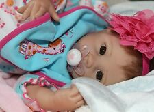 "I LUV YOU! -Newborn 20"" Collectors Life Like Pacifier Baby Girl Doll + 2 Outfits"