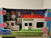 Peppa Pig - Peppa's Medical Hospital Centre Play Set - Dr Brown Bear. BNIB