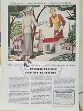 1936 American Radiator heating air conditioning welcome to home ad
