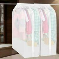 Dustproof Clothes Hanging Garment Suit Coat Cover Wardrobe Bag Storage Prot M4Y2