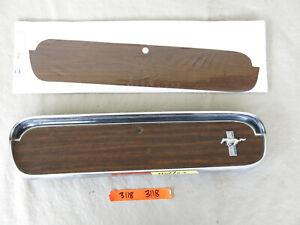 1965-1966 Ford Mustang Glove Box Door Deluxe Woodgrain C6ZZ-6506044-A #3118