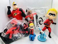 7 Disney Pixar The Incredibles McDonalds Figure Lot Edna Dash Frozone Mr Mrs