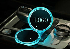 2PCS LED Car Cup Holder Pad Mat Fit For Cadillac Auto Atmosphere Lights Colorful