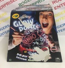 Crayola Colour Explosion Glow Dome Build Motorised Draw/Glow/Spin - NEW Box Poor