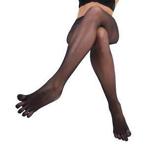 Women Seamless Sheer Separate 5 Toe Glove Pantyhose Transparent Tights Stockings