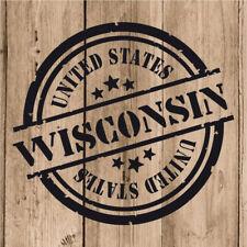 Vinilo de Corte Wisconsin Pegatina Wisconsin USA United States 10 cm Adhesivo