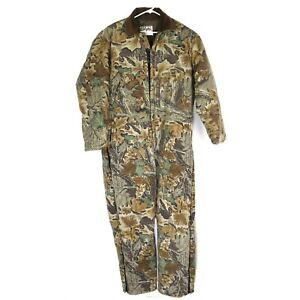 Walls Blizzard Pruf VIntage Camouflage Hunting Cotton Coveralls Size 2XL USA