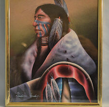 Jackson Hendey American Indian Warrior Stylized Print 8 by 10 inches