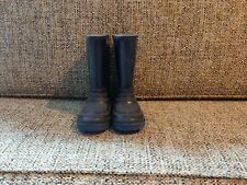 Spiderman Child Size 11 Black Rubber Boots With Blue Soles