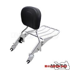 Rear Backrest Sissy Bar Luggage Rack For Harley Touring Road Glide King 09-Up